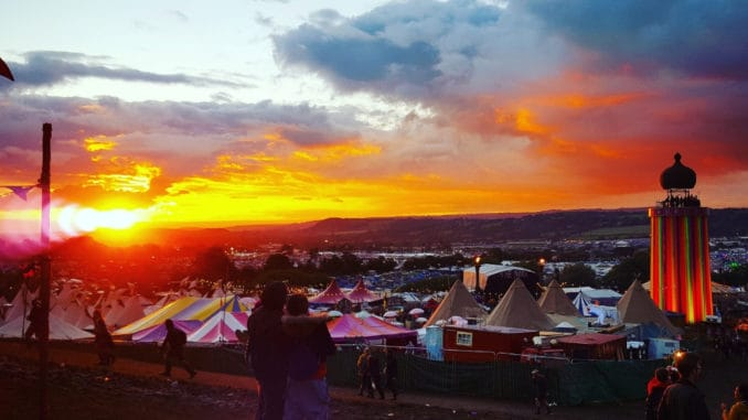 Glastonbury Festival Sunset