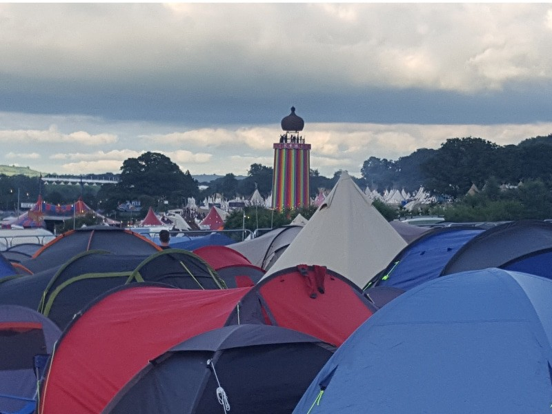 A festival full of tents