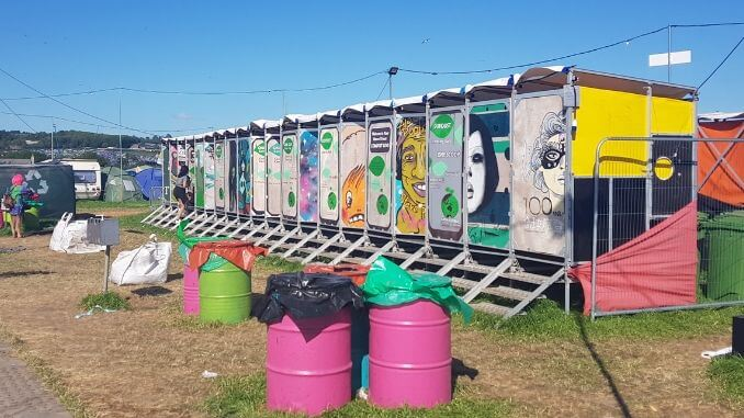 Compost toilets by Your Natural Event at Glastonbury Festival